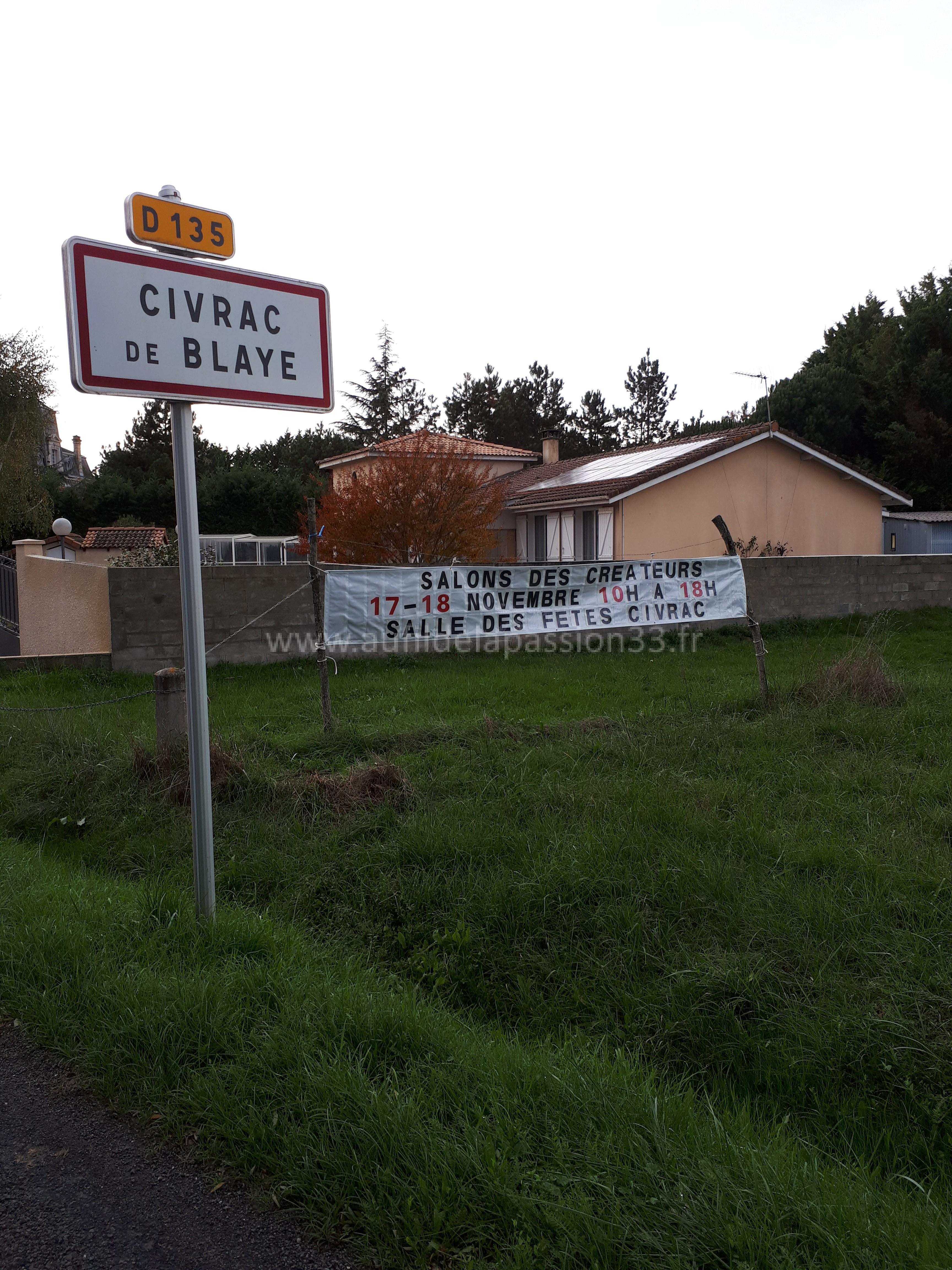 photo banderole près château civrac